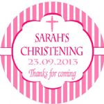 Personalised Girl Christening Sticker Design 9